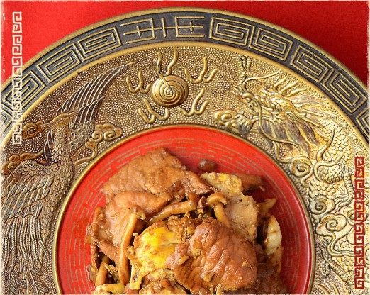 Pork with Egg & Mushrooms, 炒木須肉